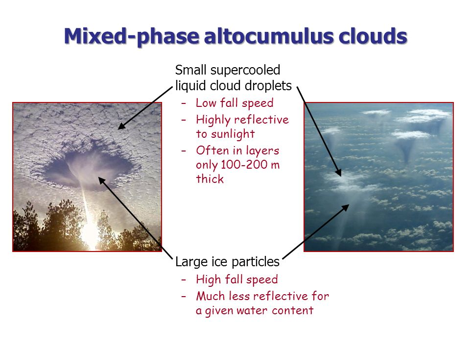 Mixed-phase altocumulus clouds