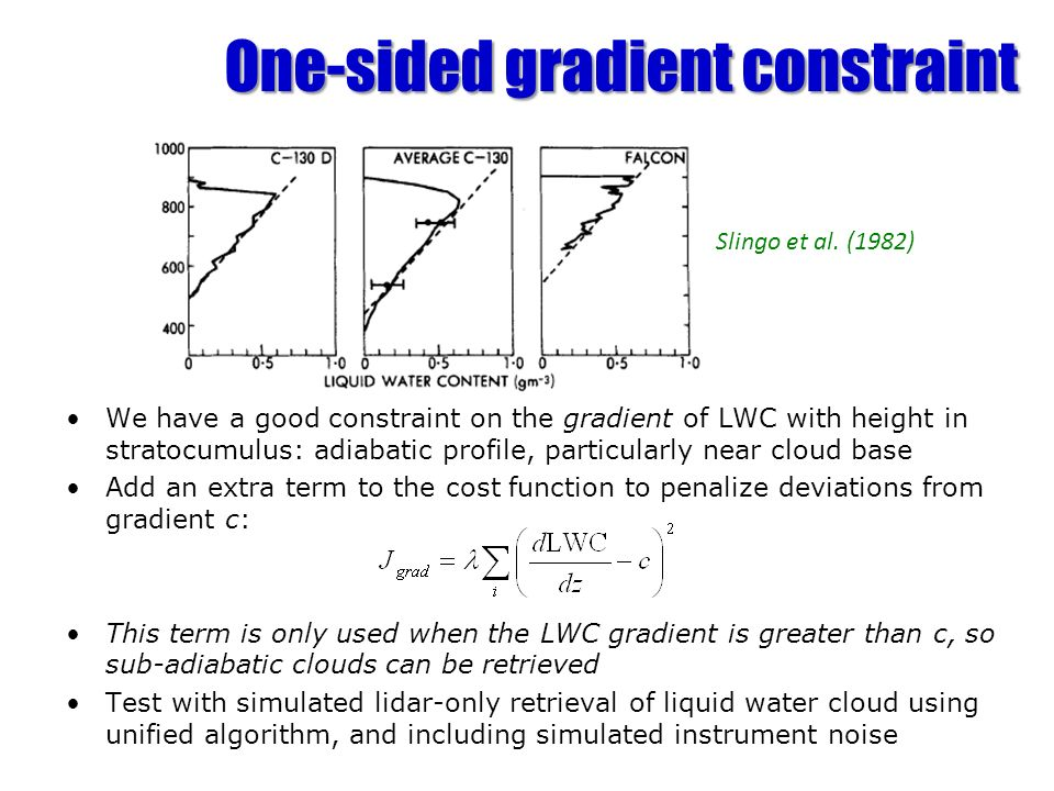 One-sided gradient constraint