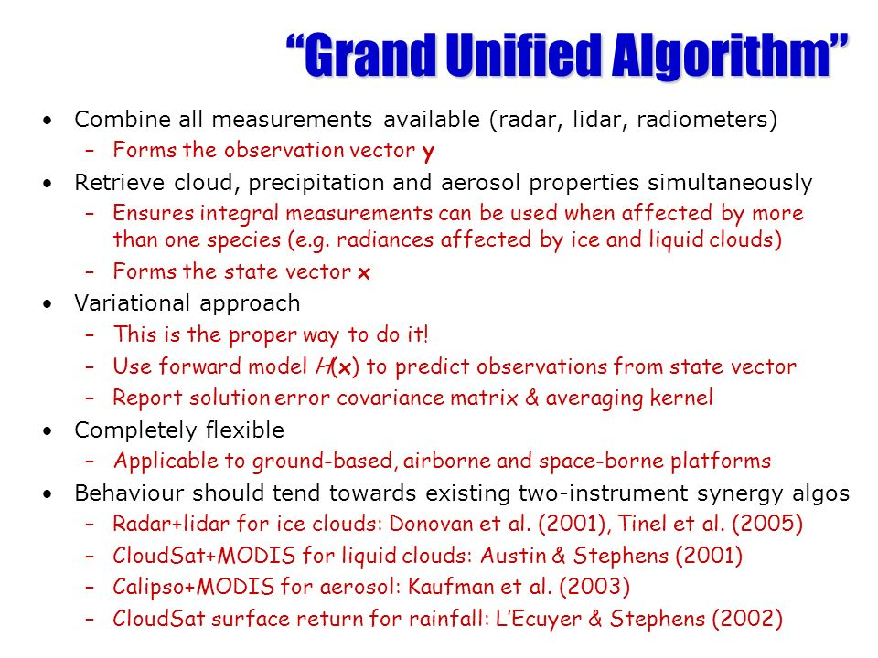Grand Unified Algorithm