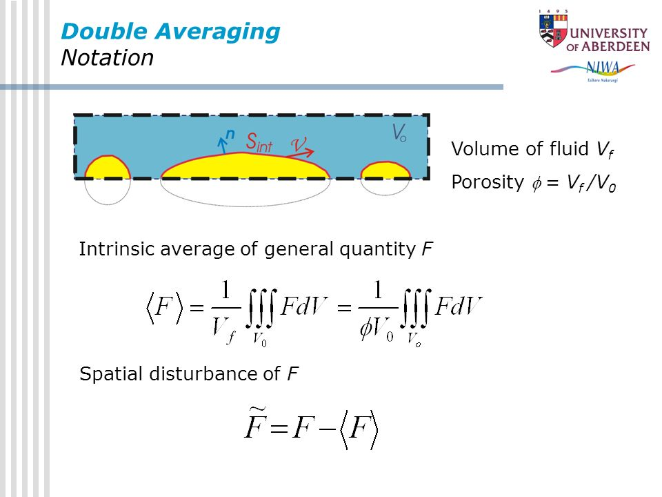 Double Averaging Notation