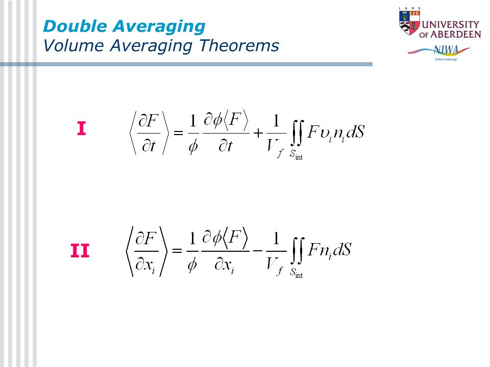 Double Averaging Volume Averaging Theorems