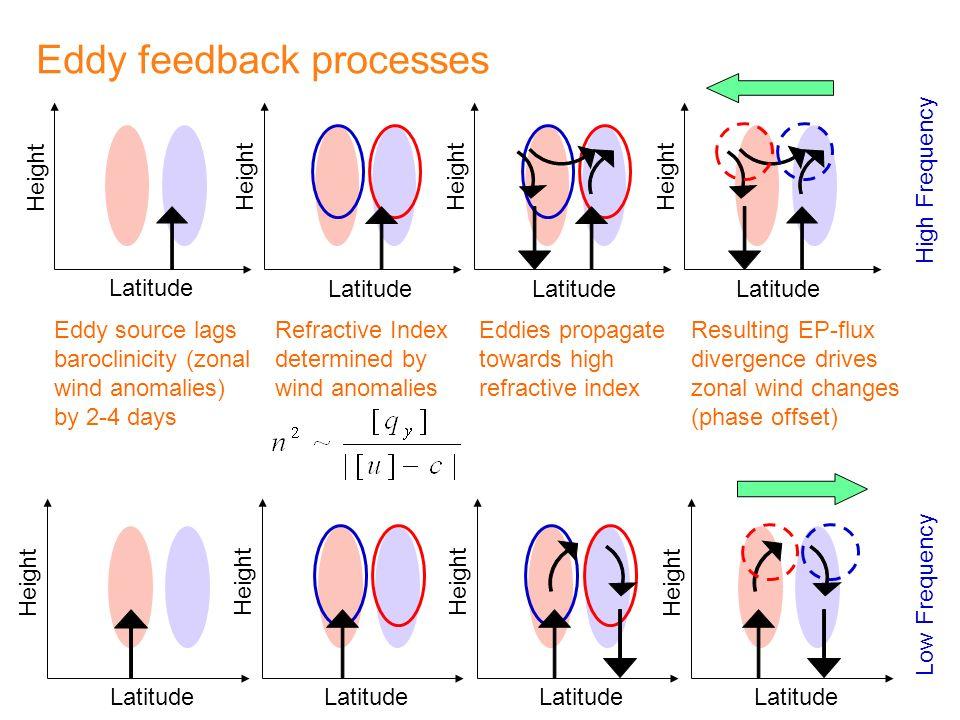 Eddy feedback processes