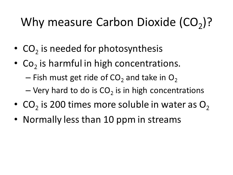 Why measure Carbon Dioxide (CO2)