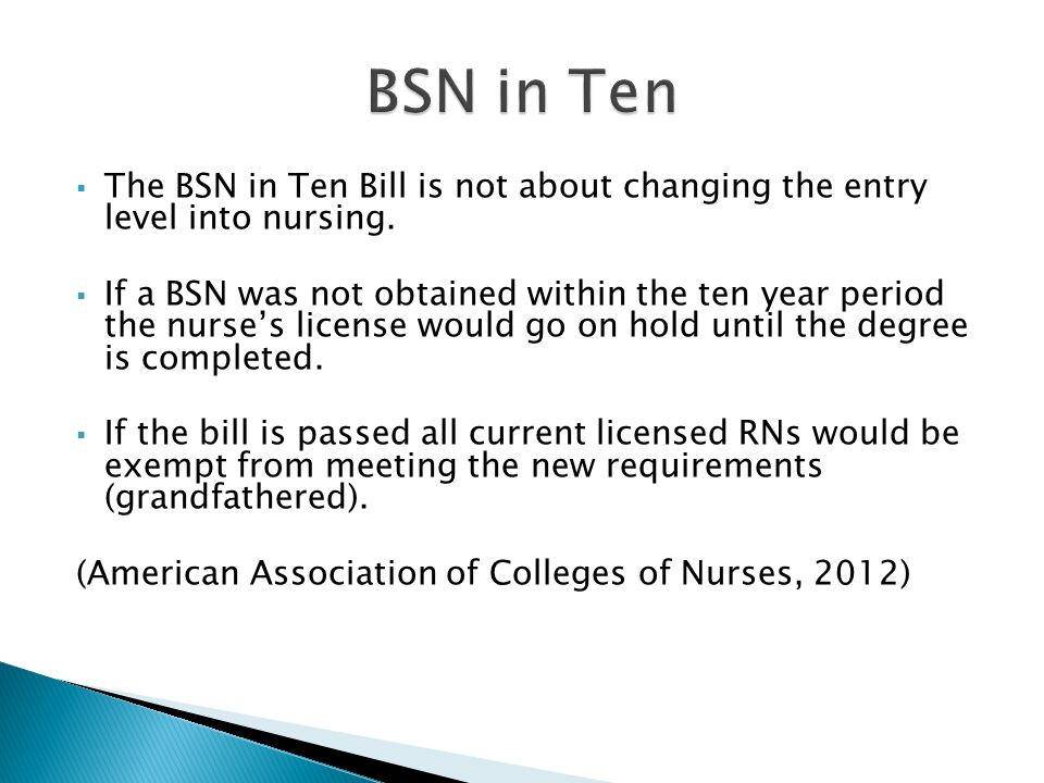 what are the pros and cons of requiring a nurse to have a bsn for entry into practice The transition from registered nurse (rn) to nurse practitioner (np) is often a stressful career change  required to have started  for advanced practice nurses.