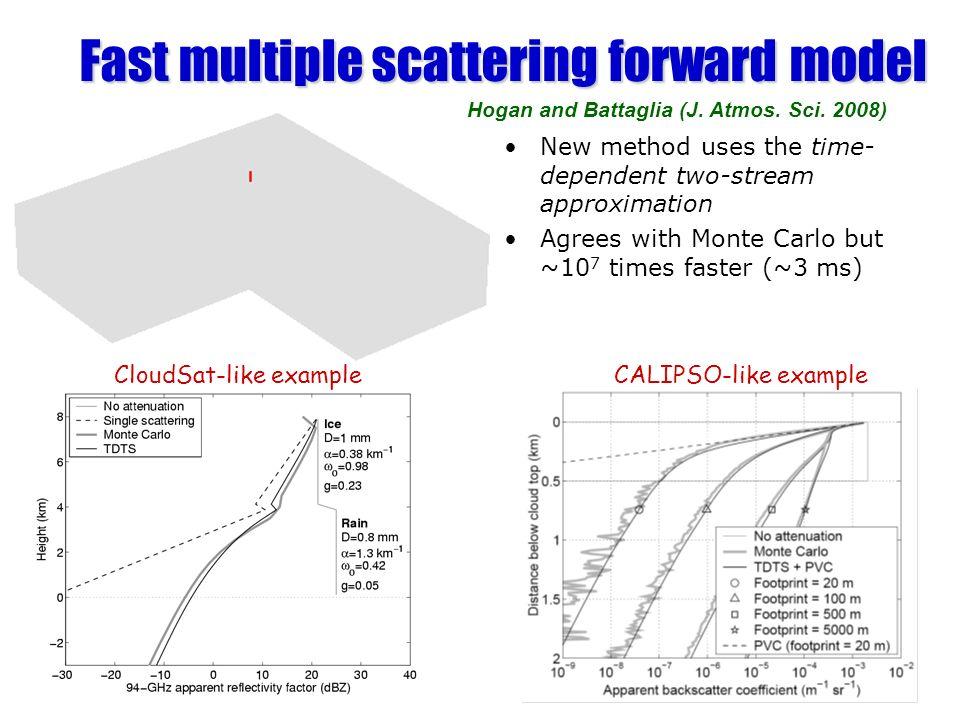 Fast multiple scattering forward model