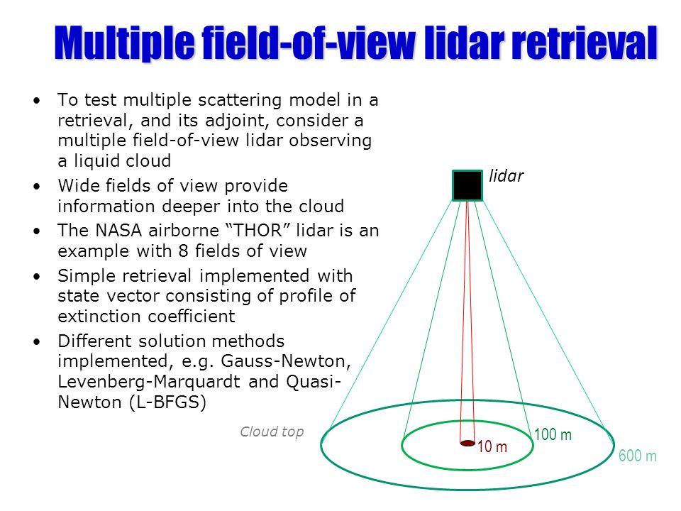 Multiple field-of-view lidar retrieval
