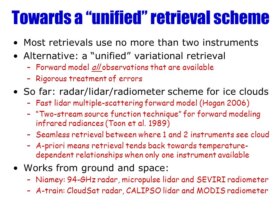 Towards a unified retrieval scheme