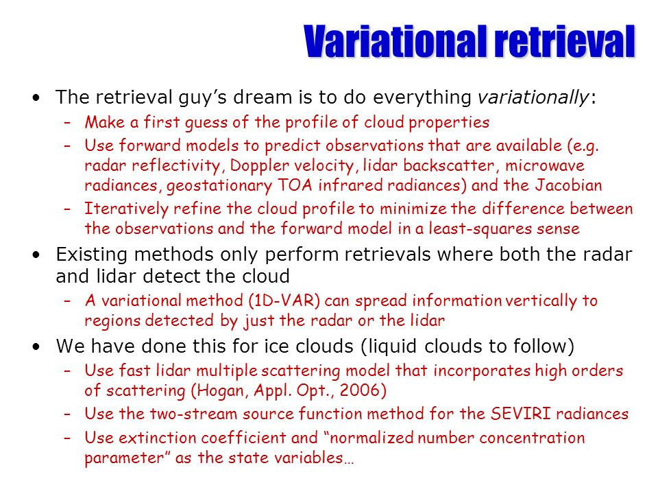 Variational retrieval