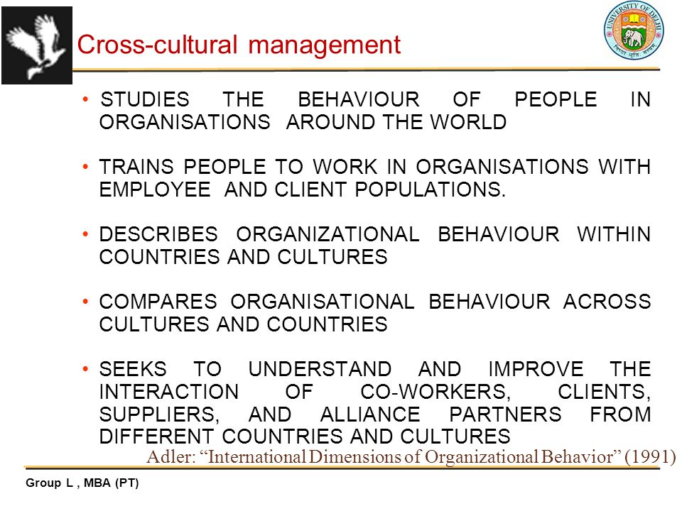 International dimensions of organizational behavior