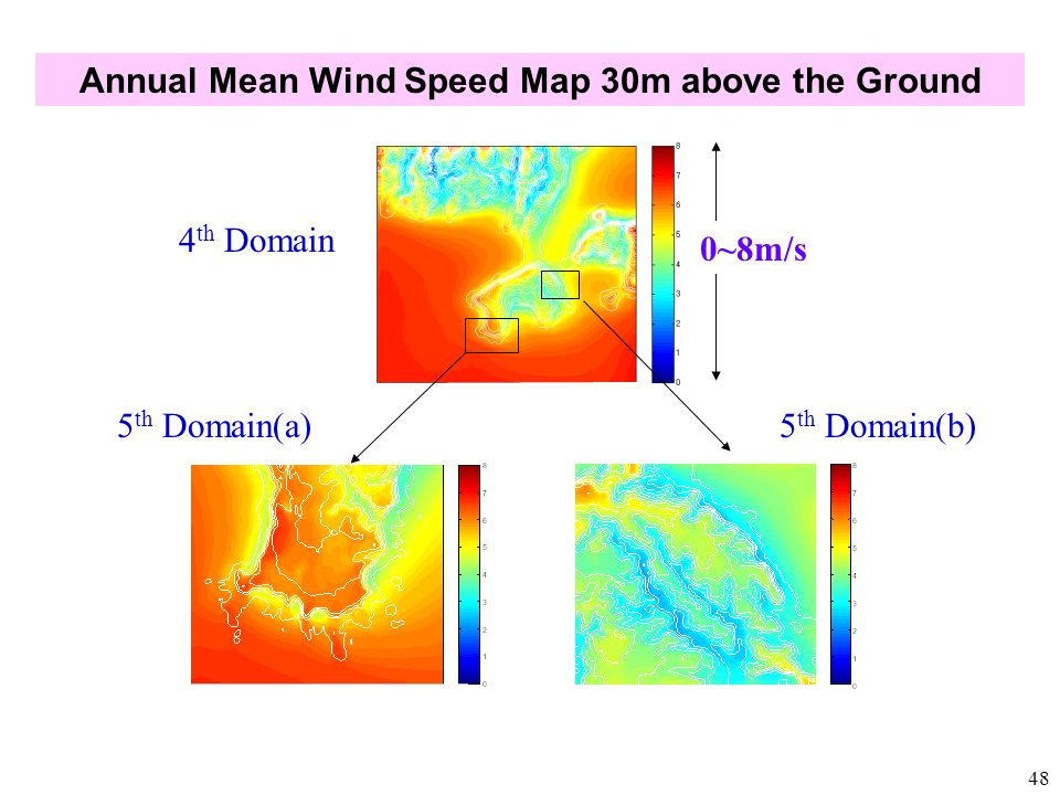 Annual Mean Wind Speed Map 30m above the Ground