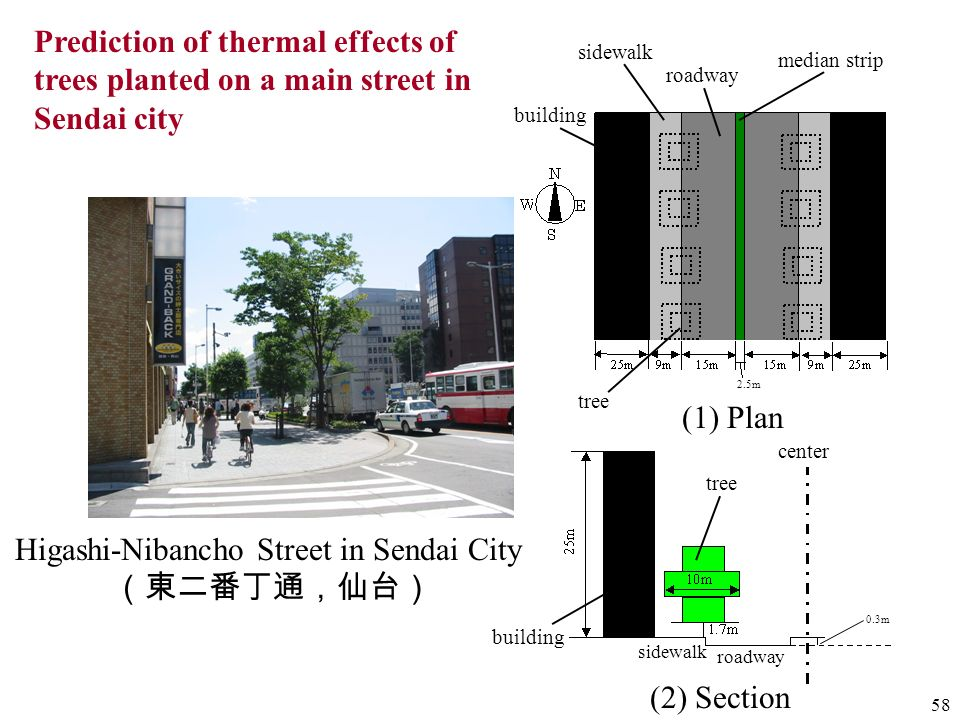 Higashi-Nibancho Street in Sendai City