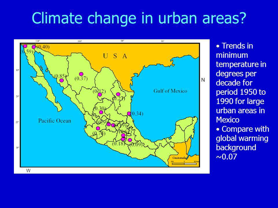 Climate change in urban areas