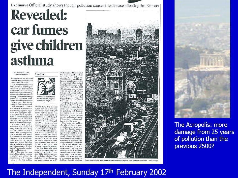 The Independent, Sunday 17th February 2002