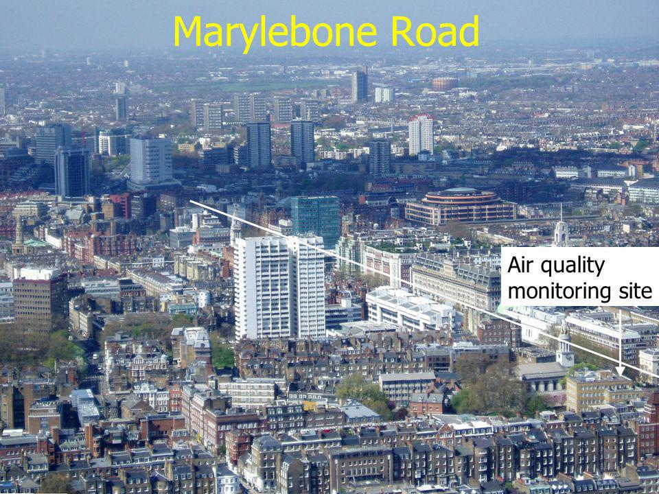 Marylebone Road Air quality monitoring site