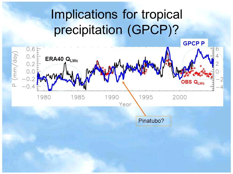 Implications for tropical precipitation (GPCP)