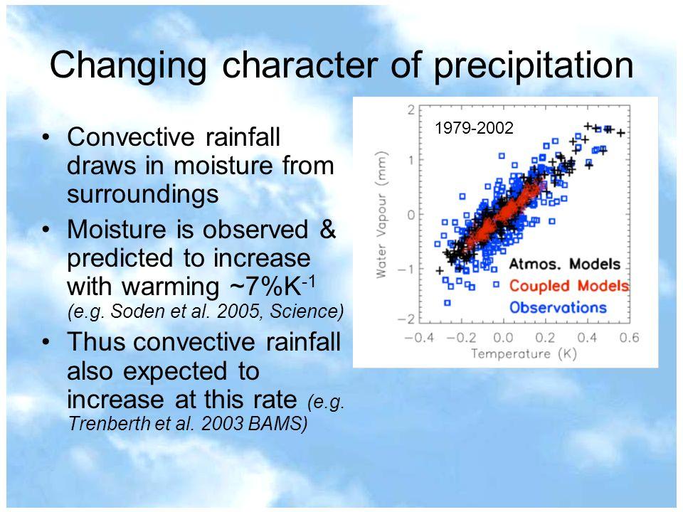 Changing character of precipitation