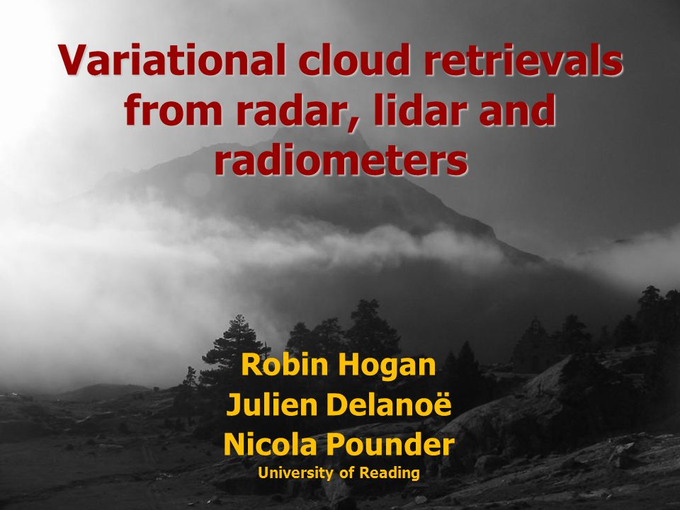 Variational cloud retrievals from radar, lidar and radiometers