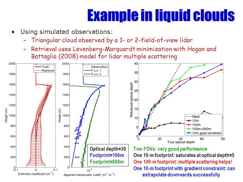Example in liquid clouds