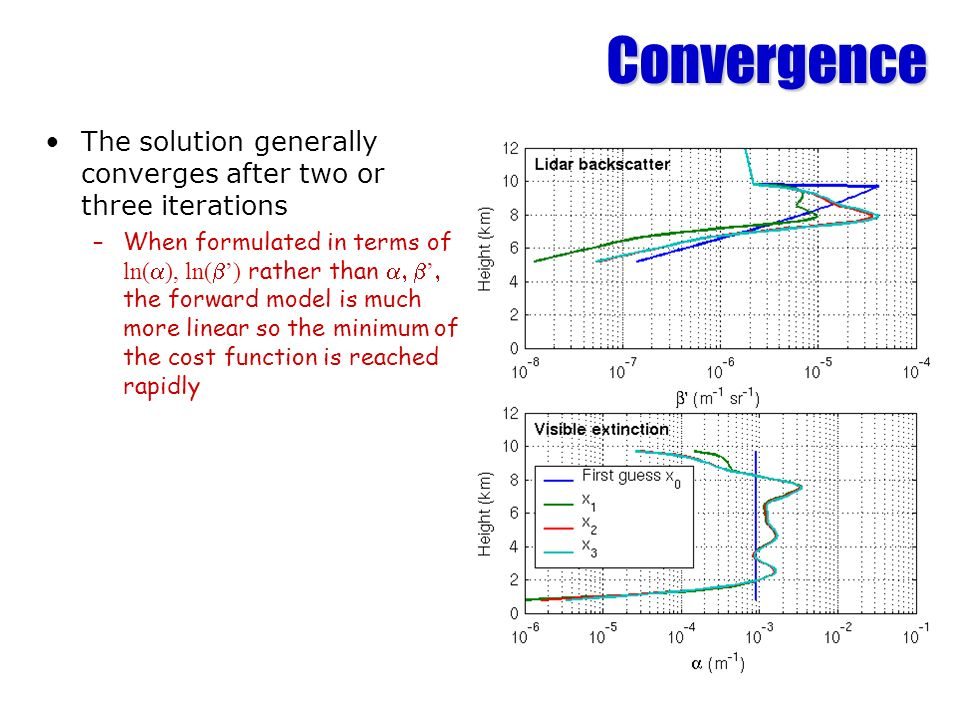 Convergence The solution generally converges after two or three iterations.