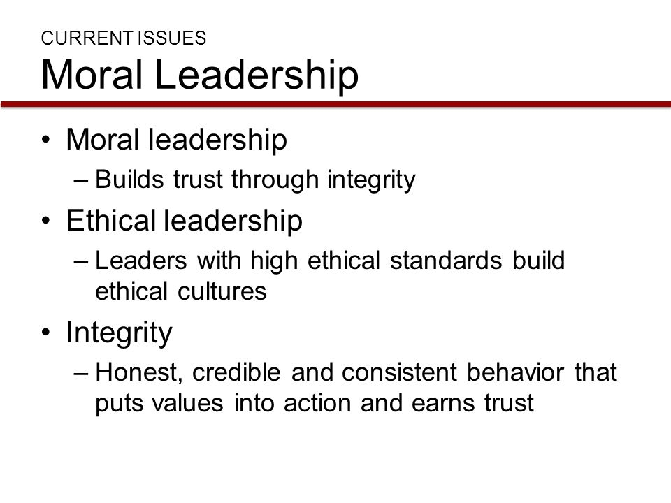 Ethical Leadership Examples