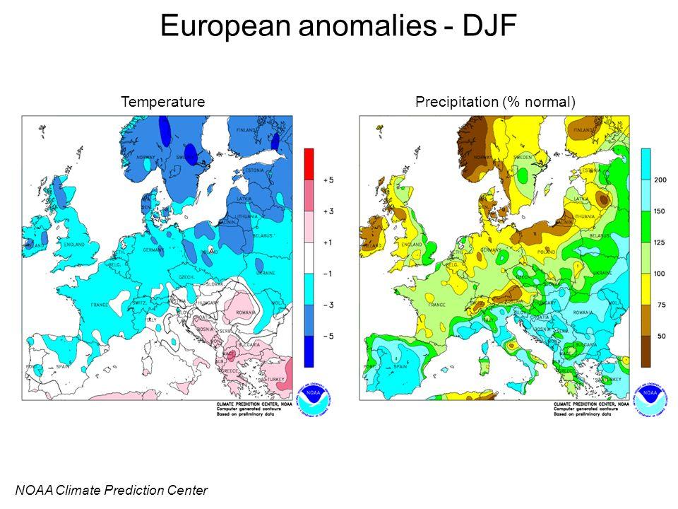 European anomalies - DJF