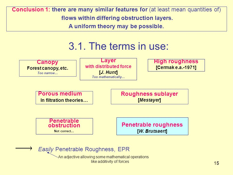 Conclusion 1: there are many similar features for (at least mean quantities of)