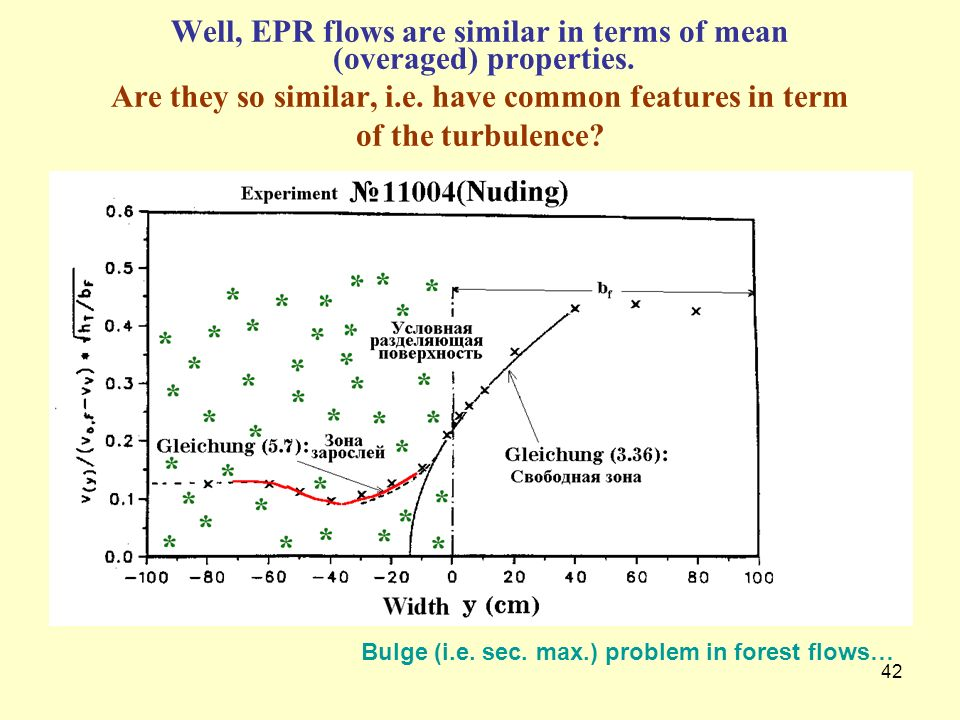 Well, EPR flows are similar in terms of mean (overaged) properties