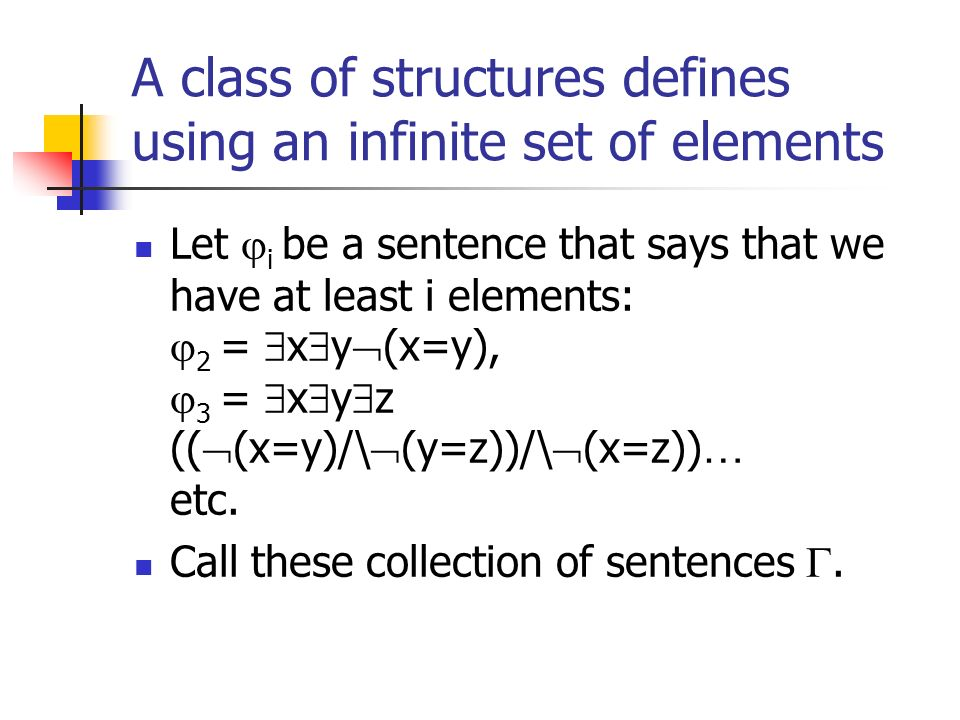A class of structures defines using an infinite set of elements