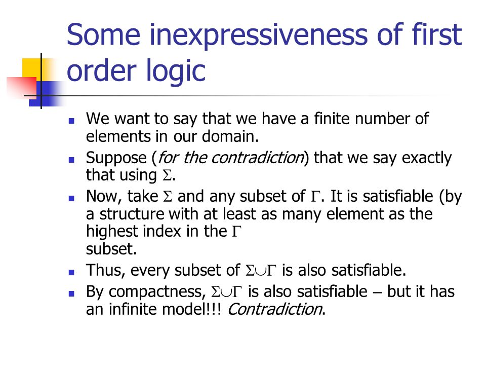 Some inexpressiveness of first order logic