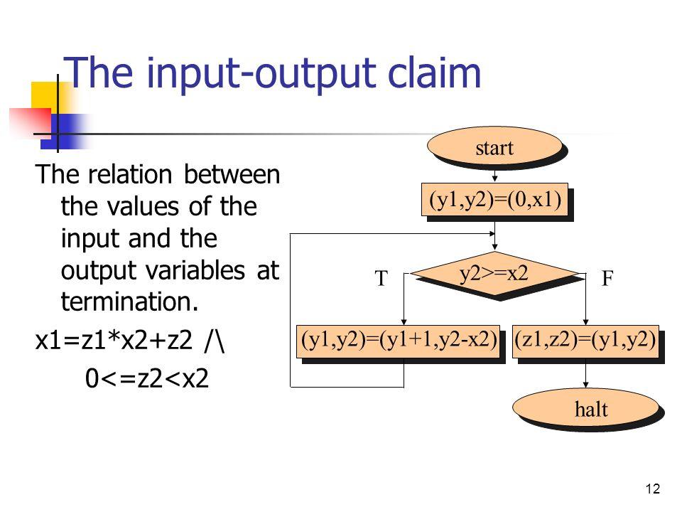 The input-output claim