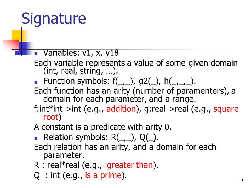 Signature Variables: v1, x, y18