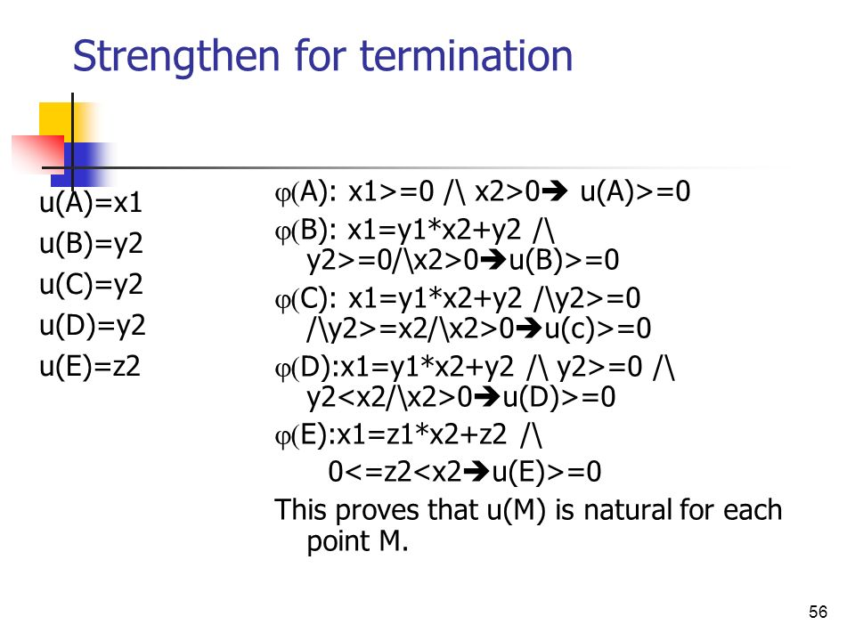 Strengthen for termination