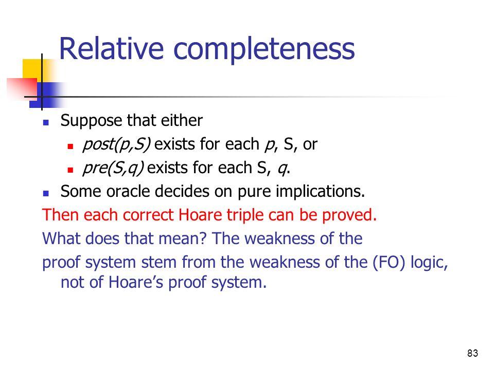 Relative completeness