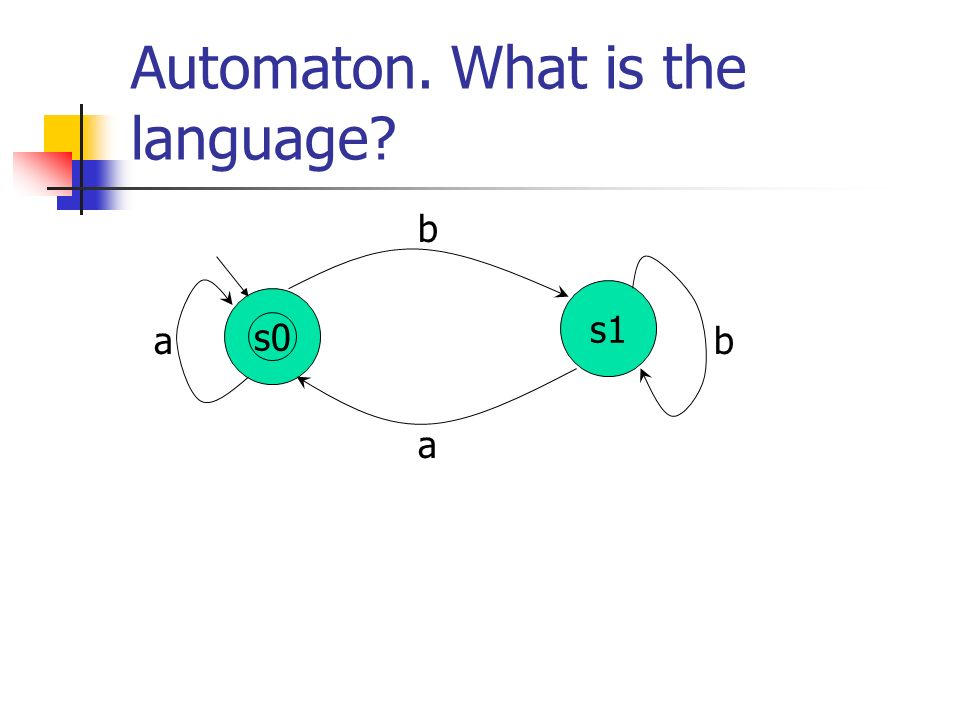 Automaton. What is the language