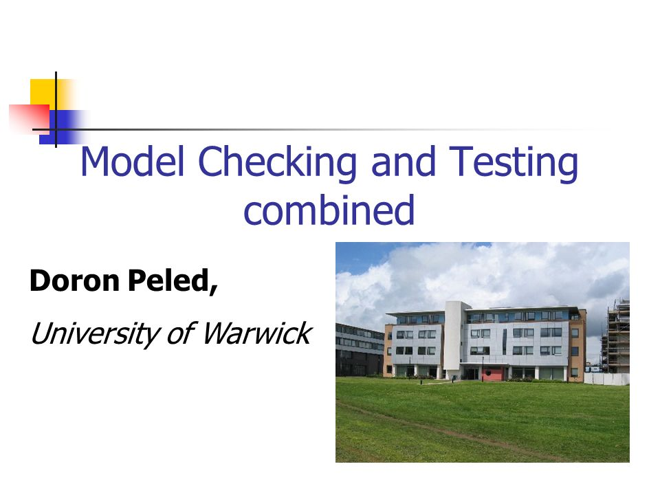 Model Checking and Testing combined