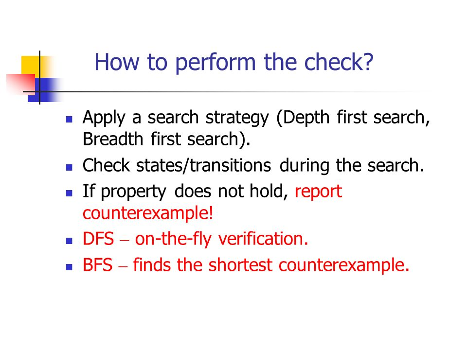 How to perform the check