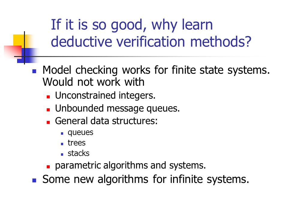 If it is so good, why learn deductive verification methods