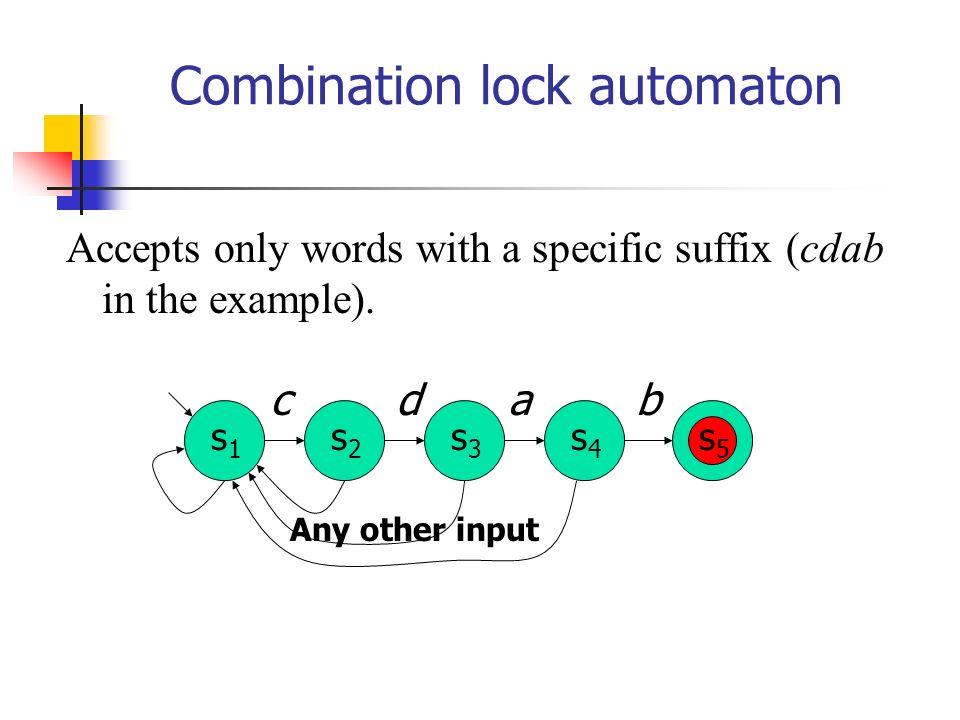 Combination lock automaton
