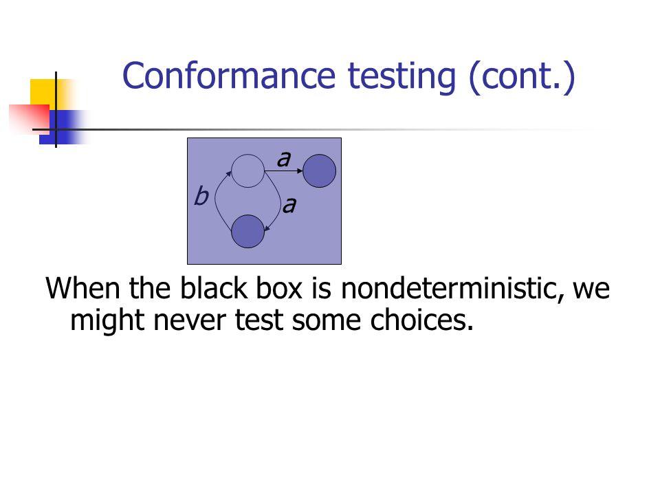 Conformance testing (cont.)