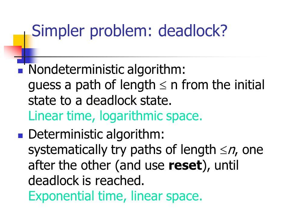 Simpler problem: deadlock