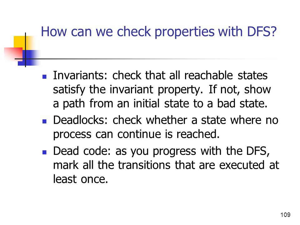 How can we check properties with DFS