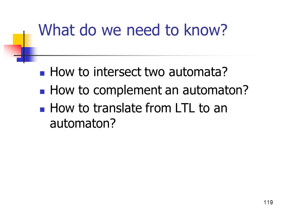 What do we need to know How to intersect two automata