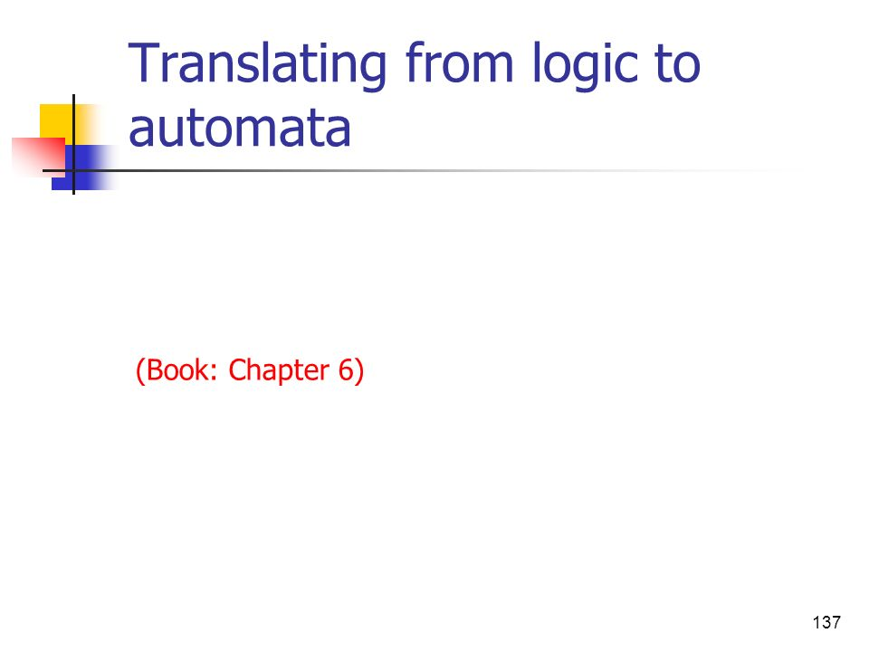 Translating from logic to automata