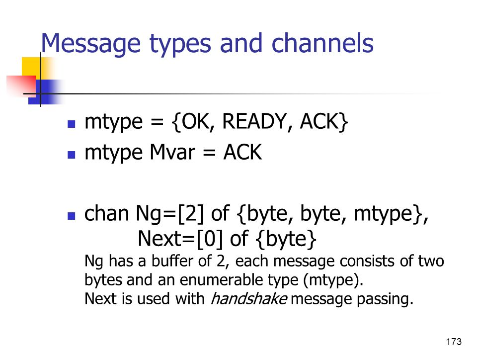 Message types and channels