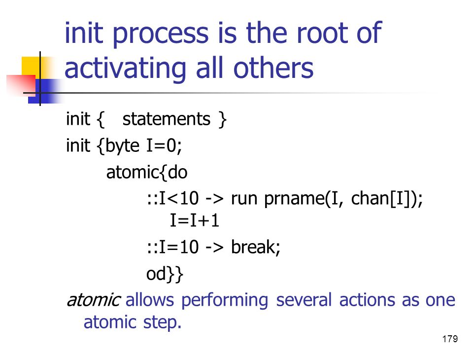 init process is the root of activating all others