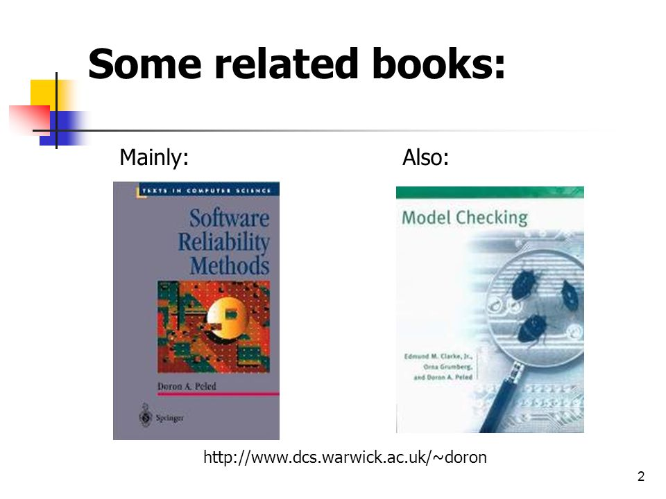 Some related books: Mainly: Also: http://www.dcs.warwick.ac.uk/~doron
