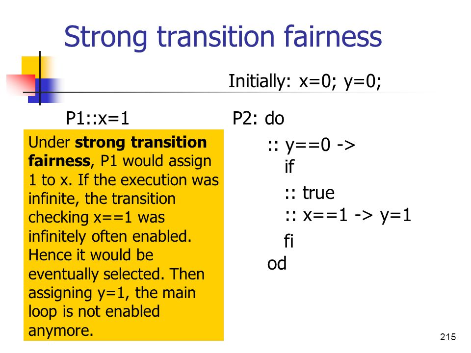 Strong transition fairness