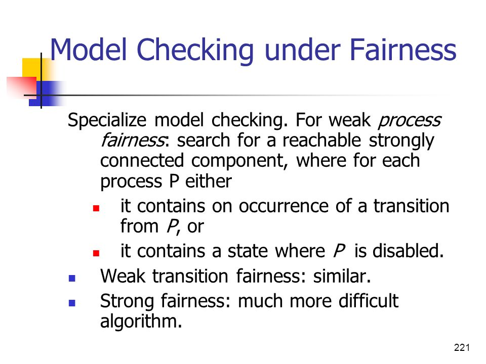 Model Checking under Fairness