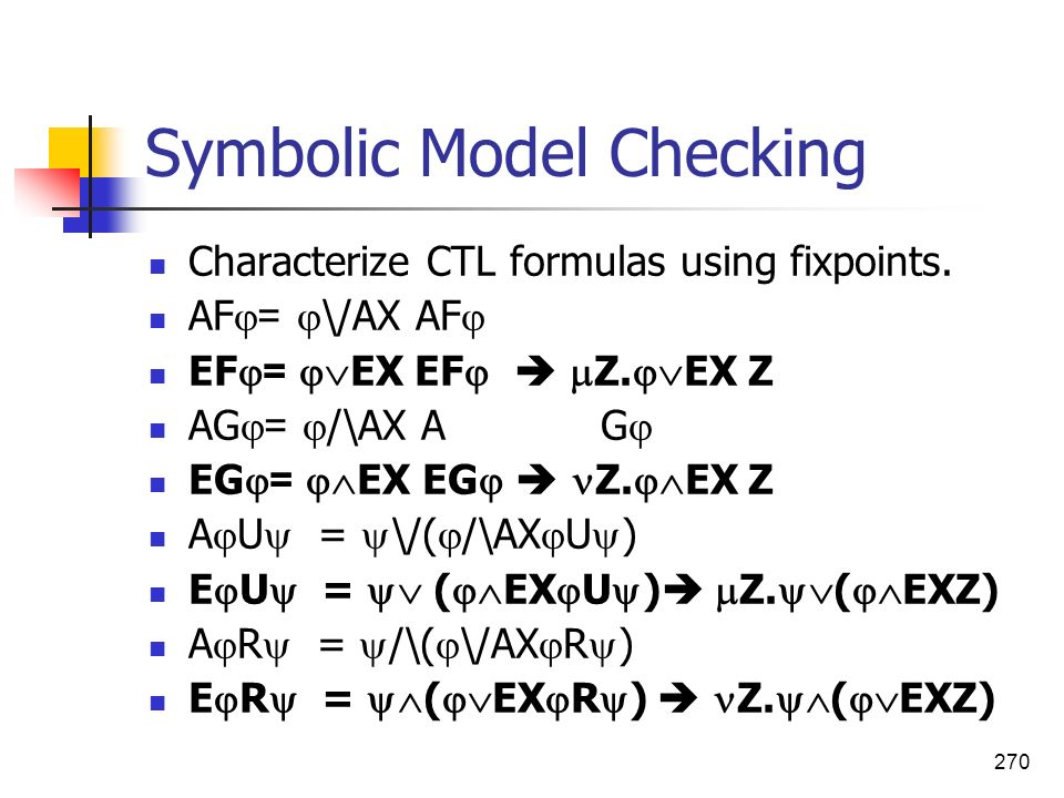 Symbolic Model Checking