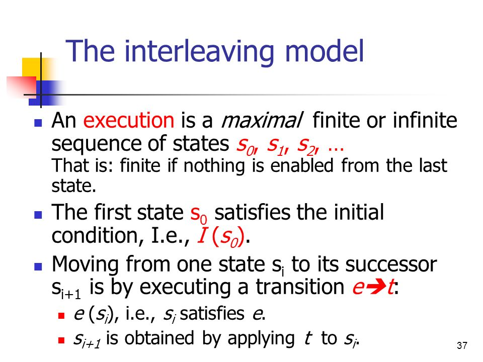 The interleaving model